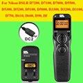 Pixel tw283 tw-283 dc2 controle remoto sem fio do temporizador para nikon d7100 d3300 d3200 d5100 d7000 d90 d5000 d7200 liberação do obturador