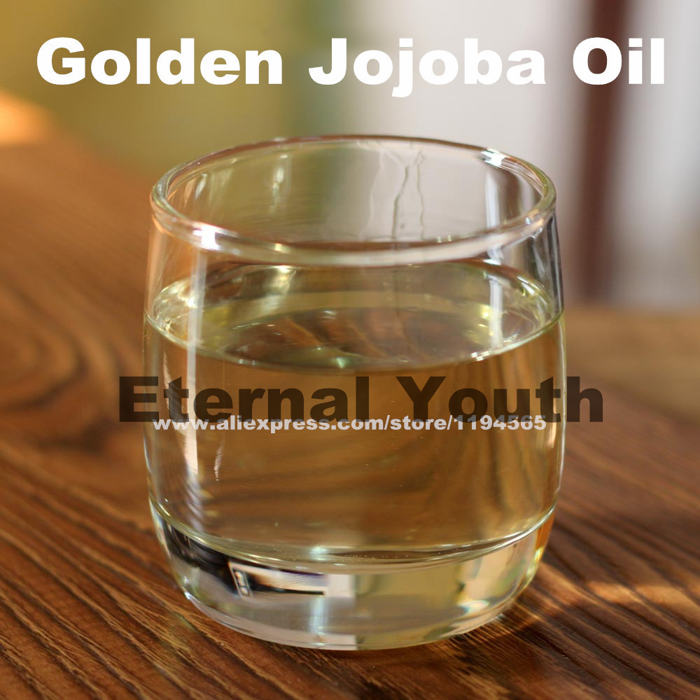 Golden Jojoba Base Oil Body Massage Essential Oils Skin Care Make Up Remove great value Simmondsia Chinensis 200g