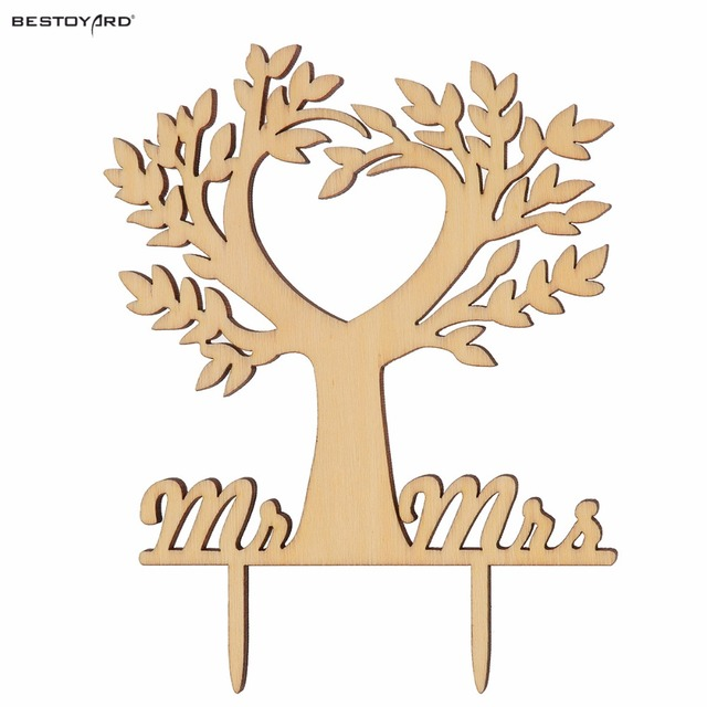 Kuchen Topper Holz Vogel Baum Hochzeit Kuchen Dekorationen (Holz Farbe)