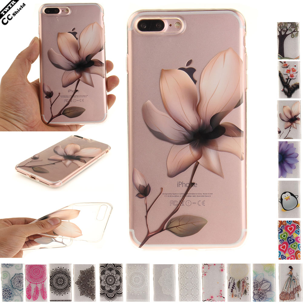 Silicon Fitted TPU Case For APPLE Iphone 7 plus 7plus Case Phone Cover For APPLE Iphone7plus soft Cases skin Transparent silicon