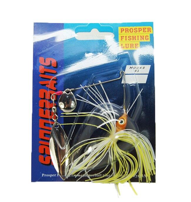 Factory Cena 5ks Rybářské návnady 13,5 g Smíšené 10 barev Spinner Bait Metal Lure vhodné pro Ocean Boat / Rock / Beach Rybolov  t