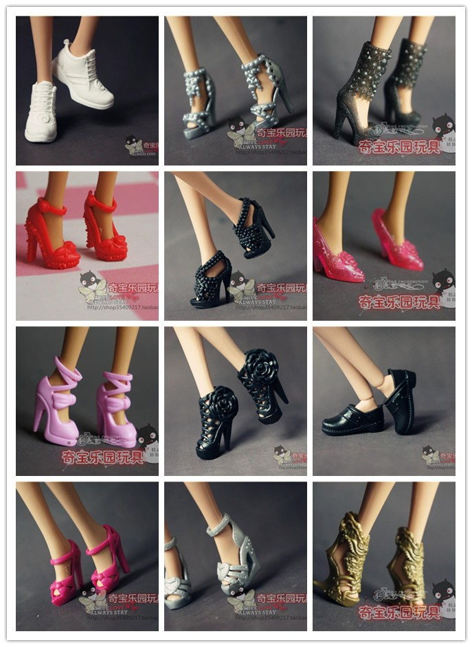 Doll Shoes Fashion Nice Children American Girls Gift Pullip Doll Accessories Lot Shoes Princess Sexy Casual For Barbie Doll 174