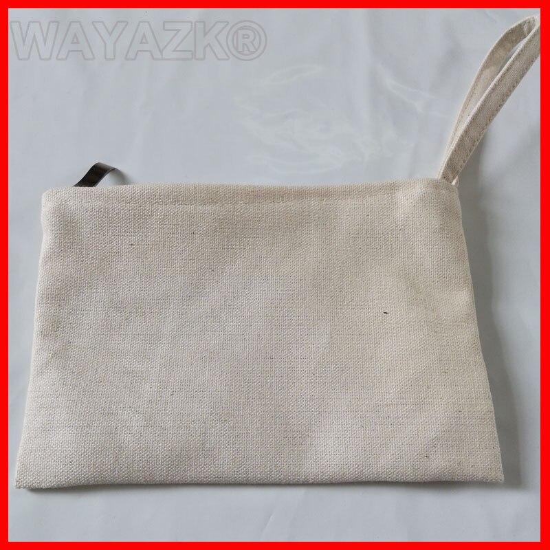 Einkaufstaschen 5 Teile/los Hohe Qualität Kosmetische Leinwand Tasche Tasche Mit Zipper KöStlich Im Geschmack