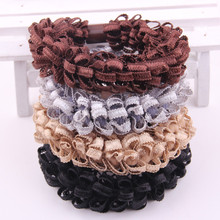 Good Quality high quality womens hair rope fashion string for binding a plait charming lace bands New Style Hair Tie Hot