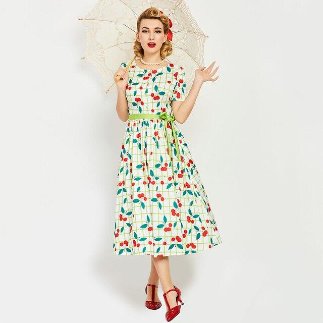 7281c603ccc Sisjuly женское летнее платье зеленого цвета с круглым вырезом ...