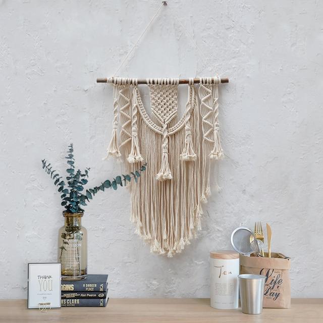 Macrame wall hanging 70S Medium size wall decor Woven wall hanging ...