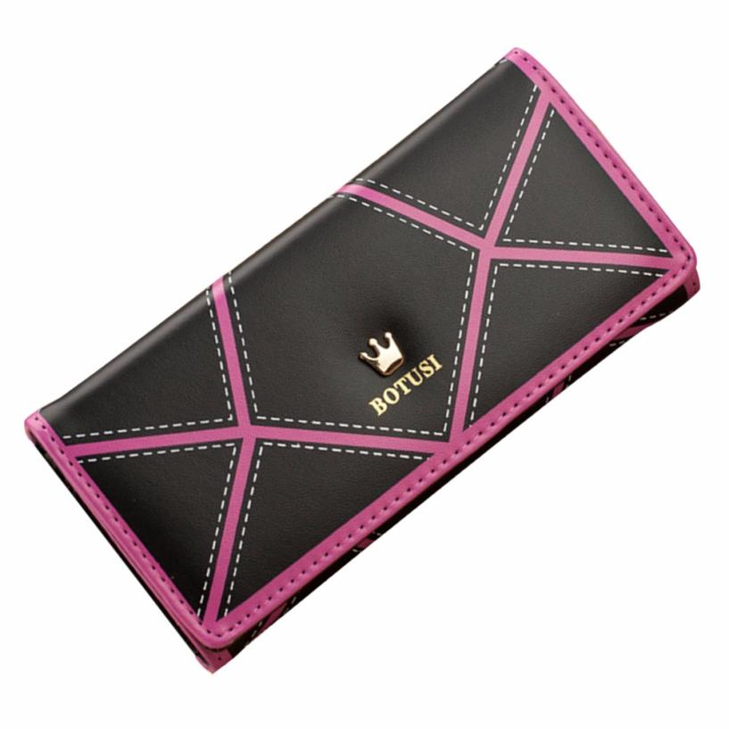 2017 New Fashion Dollar Price Women Long Wallet Crown Leather Clutch Purse Handbag Wallet Lady Long Purse female Wholesale dollar price new european and american ultra thin leather purse large zip clutch oil wax leather wallet portefeuille femme cuir