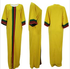 Image 5 - Robes africaines pour femmes 2019 été automne rayure imprimer mince manches longues robe Maxi nouvelle mode femmes africaines afrique vêtements