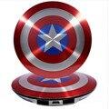 Hot 6800 mAh Power Bank The Avengers Capitão América Escudo Móvel de Alimentação Carregador Portátil Mobile Backup Externo de Carga Da Bateria
