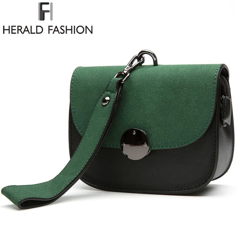 5044beb93bcc ... Herald модные Для женщин сумки панелями сумка Винтаж из искусственной  кожи сумка женские сумки через плечо ...