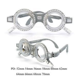 Image 2 - 2 pces universal ajustável lente de avaliação óptica quadro óculos optometry optician teste óptico lentes de teste quadro 62mm 58mm