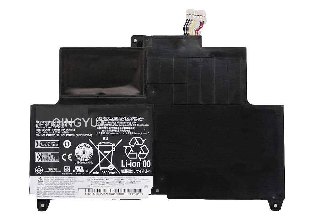 QINGYUX 14,8 V 43Wh 2870 mAh 45N1094 45N1095 Батарея Совместимость с Thinkpad Edge S230u твист 4ICP5/42/61 2 ноутбука