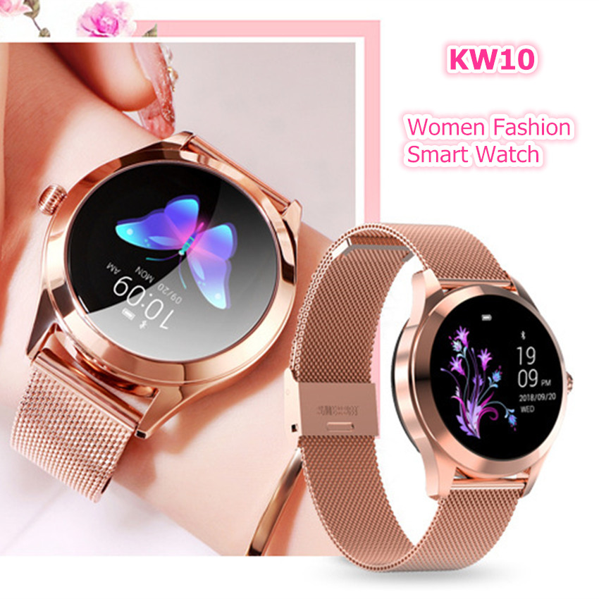 ASKMEER KW10 Smart Watch Women IP68 Waterproof Sport Smartwatch for IOS Android Heart Rate Sleep Monitor Fitness Bracelet