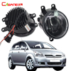 Cawanerl 2 Pieces Car LED Fog Light DRL Daytime Running Lamp White 12V Accessories For Toyota