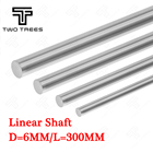 3D printer Parts OD 6mm Length 300mm Chromed stainless Steel Smooth Rods Rail Linear Smooth Shaft smooth rod Optical Axis for 3d