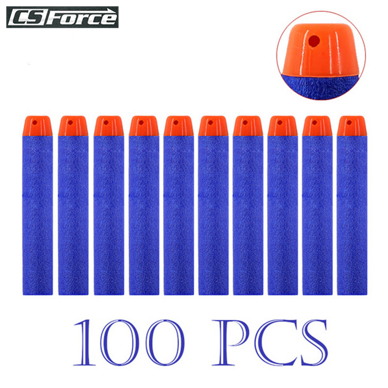 100Pcs 7.2CM EVA Nerf Refill Darts Soft Hollow Hole For Toy Gun Bullets Nerf Blasters Children Gifts Multicolor Dart Bullets