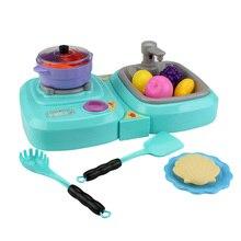 29 шт. в 1 кухонные игрушки Мини Многоцелевой газовая плита мойка раковина играть ролевые игрушки Ранние развивающие игрушки для детей