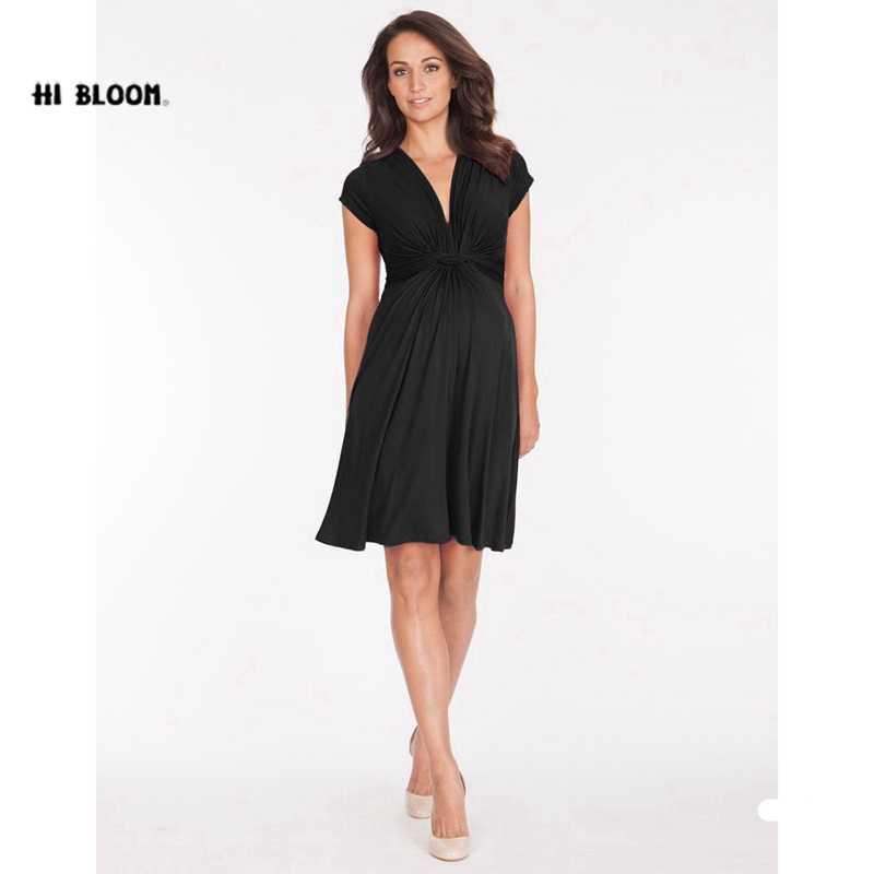 cfece06bb3f ... Tencel модная летняя одежда для будущих мам платья с v-образным вырезом  Короткое платье для ...