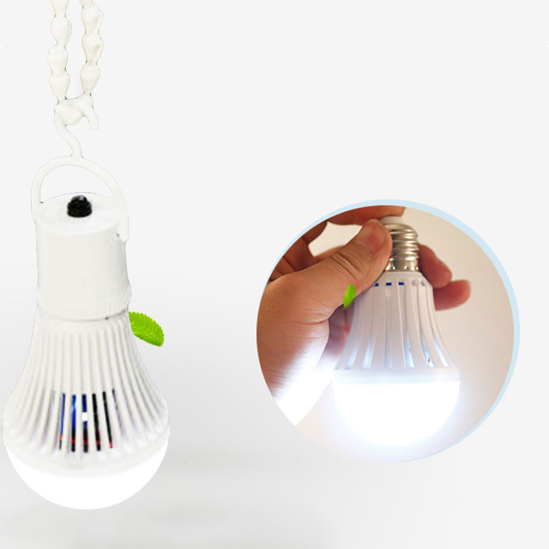 LED Energy Saving Intelligent Emergency Lamp Bulb Rechargeable w/Hook Home 700lm