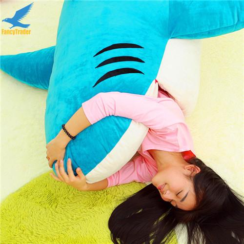 Fancytrader Huge Giant Shark Sleeping Bag Beanbag Sofa Bed Carpet Tatami Plush Stuffed 2 Colors FT90358 (6)