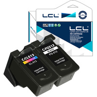 LCL Canon PG512 CL513 2 Pack Ink Cartridge Compatible For Pixma IP2700 Pixma MP240 Pixma MP250