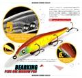 Grande desconto! varejo iscas de pesca, cores sortidas qualidade minnow 110mm 14g, bola de tungstênio bearking 2017 modelo manivela isca