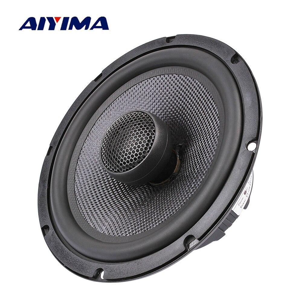 AIYIMA 6.5 pouces haut-parleur Coaxial de voiture 25 Core Film de soie aigus basse 4 8 ohms 60 W Fiber de verre Audio haut-parleur de graves
