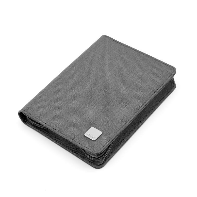 Kaco pen pouch pen case bag Grey Color Business Style 10 Pen Pockets in Pencil Bags from Office School Supplies