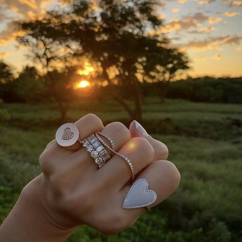 Handmade Eternity Promise ring 925 Sterling silver AAAA cz Engagement Wedding Band Rings for women Men Finger Party Jewelry 4