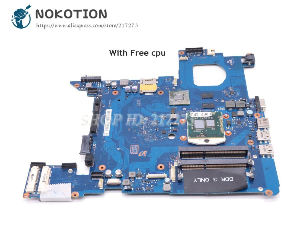 цена на NOKOTION For Samsung NP-200B NP200B5A 200B Laptop Motherboard GT315M HM55 DDR3 Free cpu BA92-07708A BA92-07708B BA41-01501A