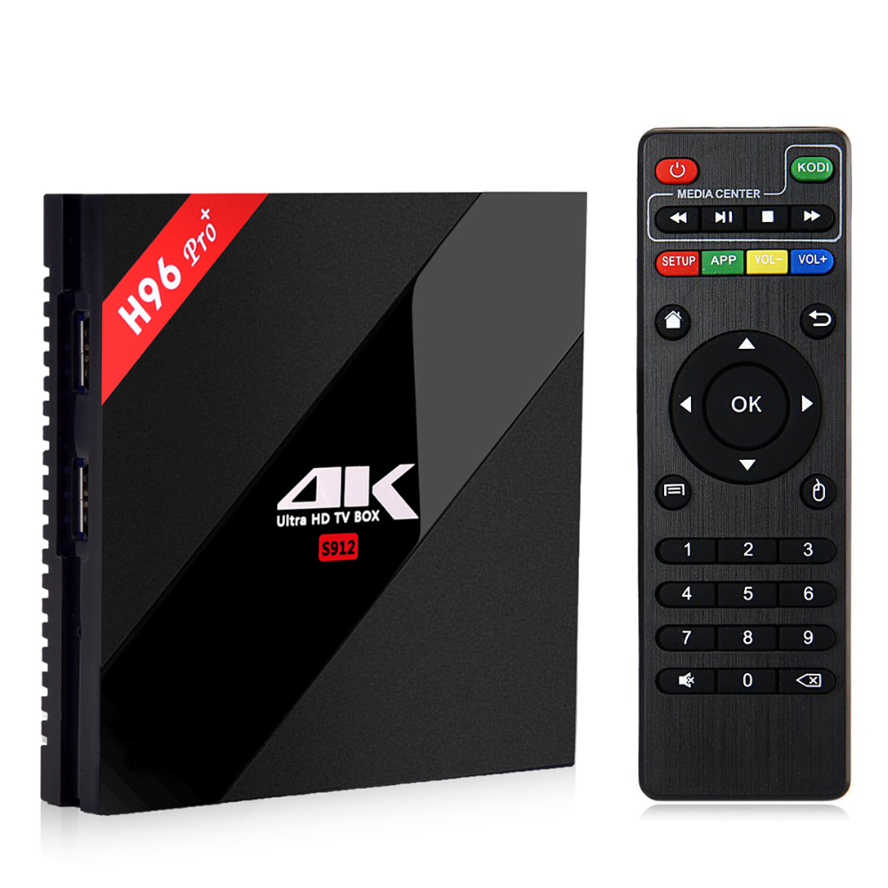 H96 Pro+ Max 3G / 32G Android 7.1 TV Box Amlogic S912 Octa Core Gigabit LAN BT 4.1 2.4G/5.8G WIFI 4K H.265 Smart TV Media Player
