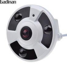 GADINAN Panoramic IP Camera FishEye 5MP 1.7MM Lens IP H.264 720P 960P H.265 1080P Motion Detection CCTV ONVIF 48V POE optional