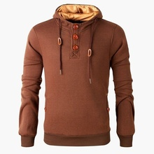 купить ZOGAA2019 Spring New Men Hoodie Stitching Color Pullover Button Tie Lace Decorative Hoodies Casual Street Pullover 6 Color S-3XL по цене 902.07 рублей