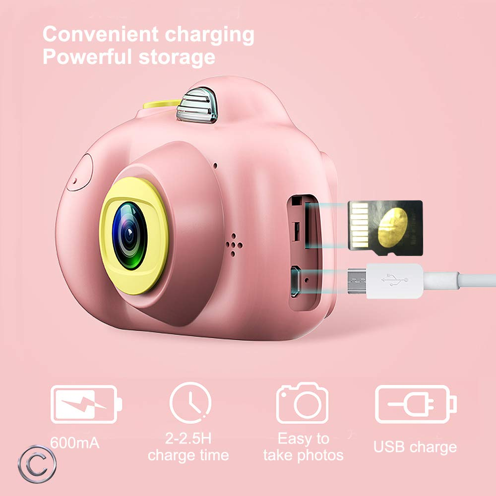 Image 5 - Kids Cartoon Camera Digital SLR 8MP 2inch Smart Camera Shockproof Fixed Focus Toy Cameras For Children Christmas Gift Boy Selfie-in Point & Shoot Cameras from Consumer Electronics