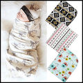 Baby Swaddle Wrap Muslin Blanket Girls Cotton Flower Deer Print Nursing Cover