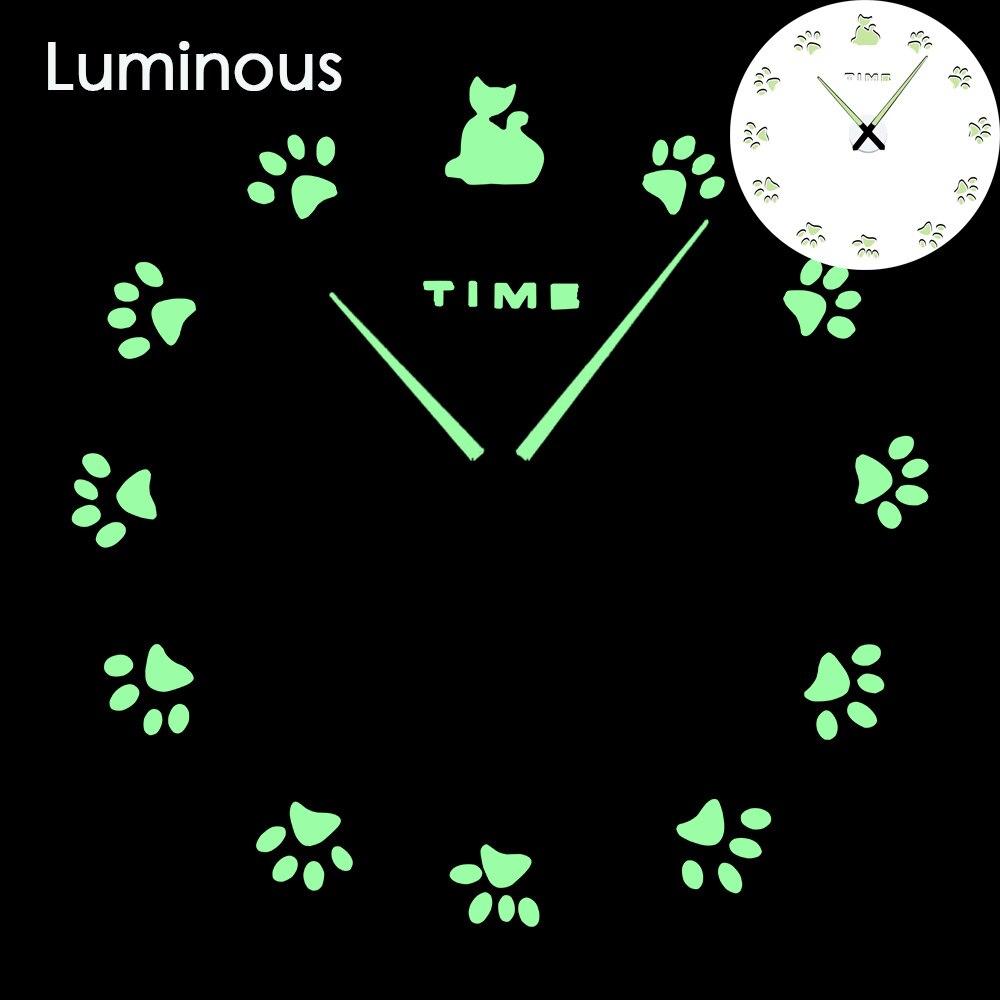 27 различных дизайнов светящиеся настенные часы современный дизайн настенные цифровые большие Big3D DIY модные Saat Reloj Horloge klok - Цвет: wall clock 12