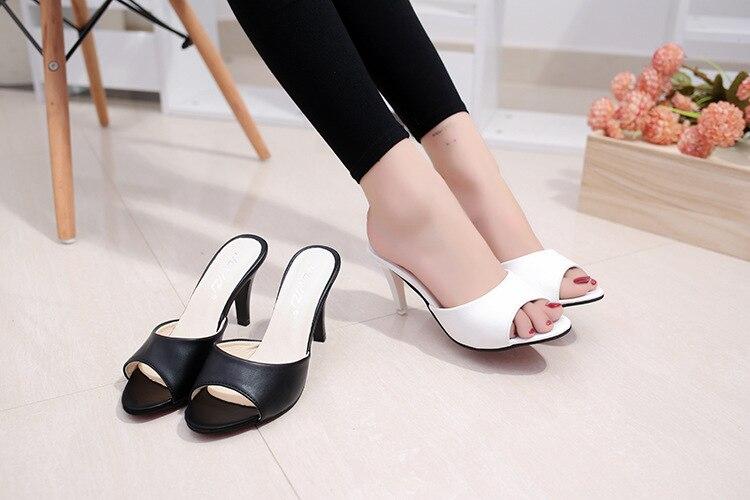 HTB1YIibbvfsK1RjSszbq6AqBXXaO HOKSVZY Women Slipper 2019 Slippers women's Fashion Wear Stiletto Fish Mouth Stiletto Sandals Slippers women's Sandals FZZ-2902