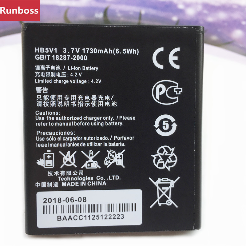 New Original HB5V1 <font><b>Battery</b></font> For <font><b>Huawei</b></font> Y516 Y300 Y300C Y511 Y500 T8833 U8833 G350 Y535C Y336-U02 <font><b>Y360</b></font>-u61 Mobile Phone <font><b>Batteries</b></font> image