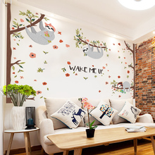 Cartoon koala Wall Stickers For living room Decoration DIY Removable Background Wall Decal Home Decor QTM422