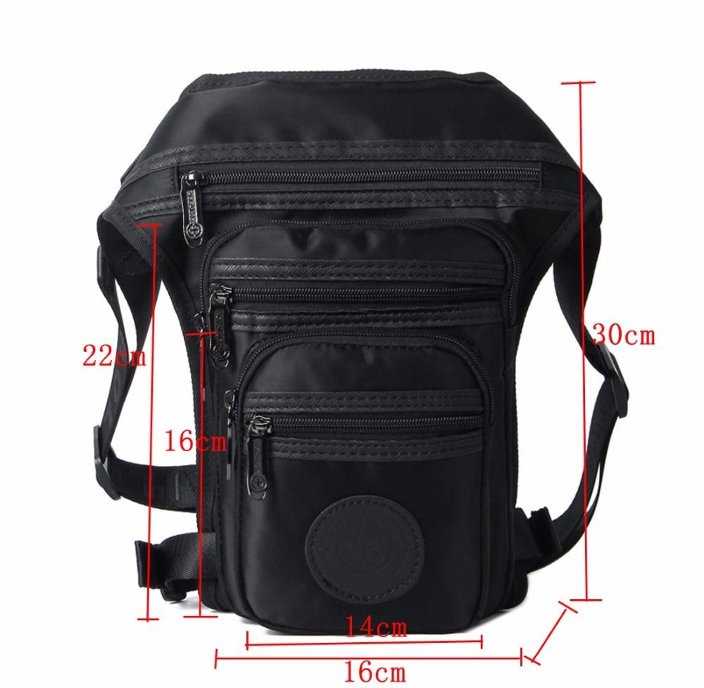 Mænd vandtæt nylon / lærred talje pakke taske crossbody skulder - Bæltetasker - Foto 2