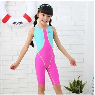 f88d1b32093 New Girls Professional One Piece Comfortable Quick-Dry SwimSuit Beach Wear  Kids Sport Breathing Racing