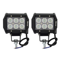 2pcs 4inch 18w Led Work Light Bar Cree Driving Lights Tractor Boat Off Road 4WD 4x4