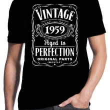 60th Birthday Vintage Aged To Perfection 1959 60 Years Old Gift Present T ShirtChina