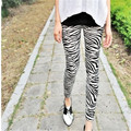 Black And White Zebra Pattern Leggings For Female Women' Pants Trousers Bottoms Thin FundsSuper Personality Slimmer 9z-XDK-001