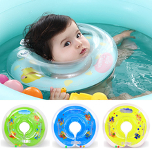 Piscina bebé accesorios de baño de cuello bebé juguetes inflables anillo de  seguridad infantil bebé cuello círculo flotante baño. 3311a90f52c