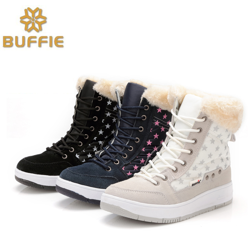 2016 new winter shoes plush warm shoes white