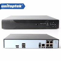 4CH ONVIF 48V 5MP 4MP 2MP Standalone Real POE NVR Network Video Recorder For POE 4MP