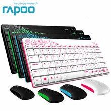Waterproof Rapoo X220 2 4G Multi Media Mini Wireless font b Keyboard b font and Mouse