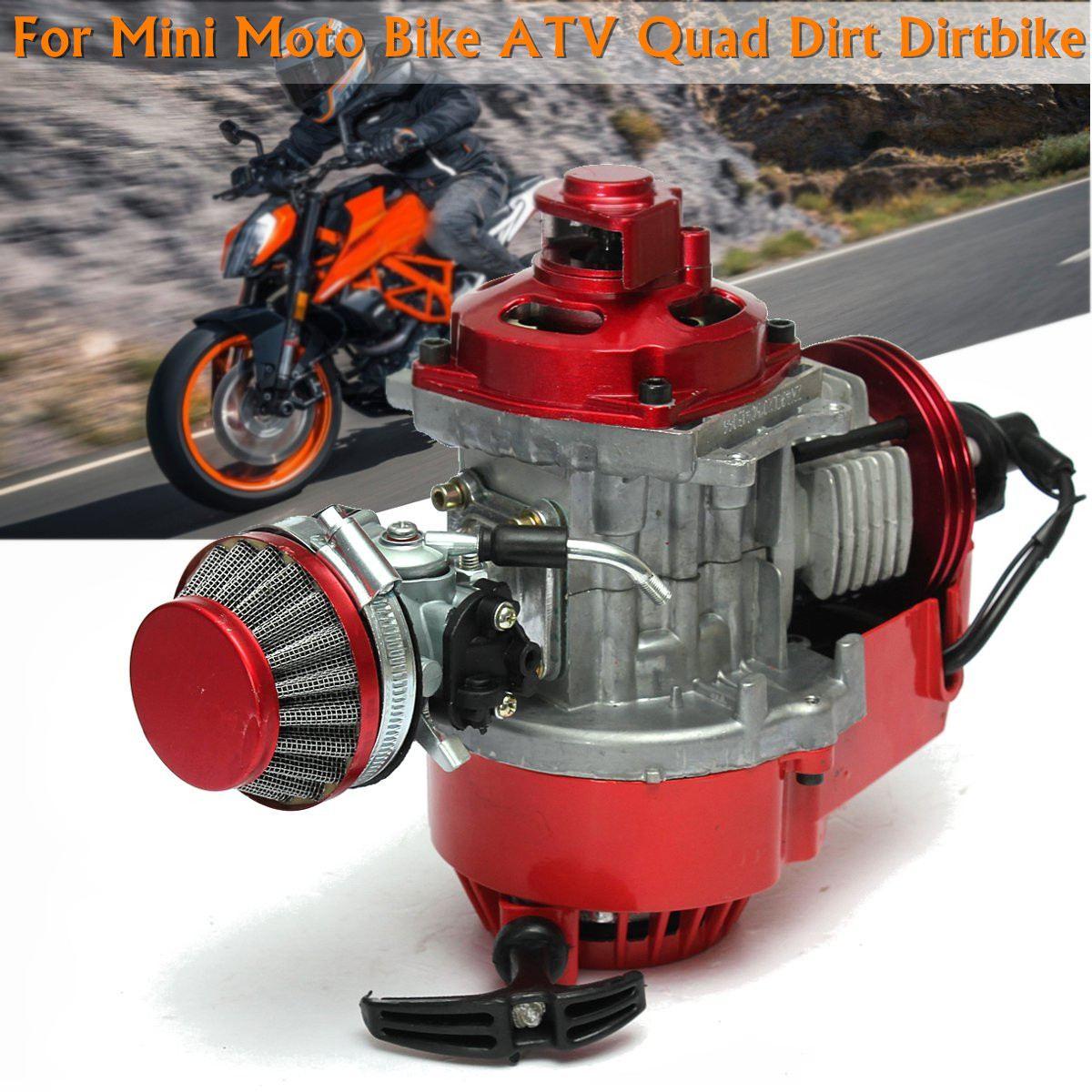49cc Metal Mini for Pocket Minimoto Bike Air Cooled RACING Red ATV Dirt goofit 15mm carburetor air filter carburettor kit carb r stack 49cc mini atv dirt pocket bike racing motorcycle group 77