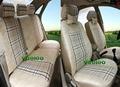 Veeleo + 6 Colores Universal de Coche Cubre Asiento De Coche Para Audi A6 C6 C5 A4 B6 B5 100 A3 TT 3D Tela de Lino Car Styling